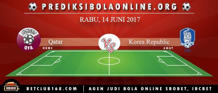 Prediksi Qatar Vs Korea Republic 14 Juni 2017