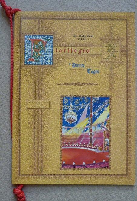 Programme cirque Il Florilegio - Darix TOGNI 1990 Tournée Italie