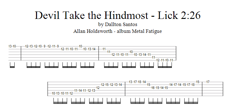 Dallton Santos - Rock & Fusion Guitar : Allan Holdsworth lick