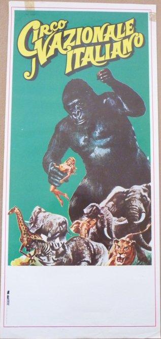 Affiche circo NAZIONALE ITALIANO 1988 - King Kong