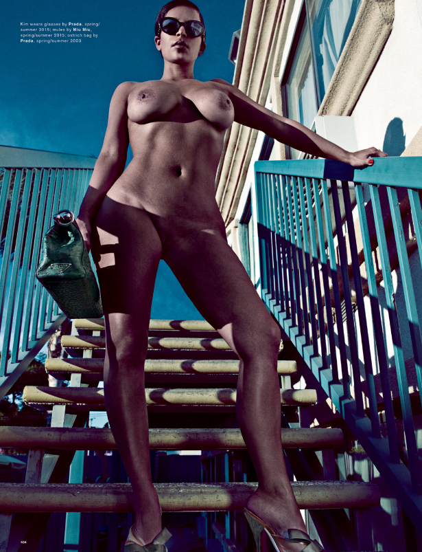 Kim Kardashian Completely Nude In Love Magazine