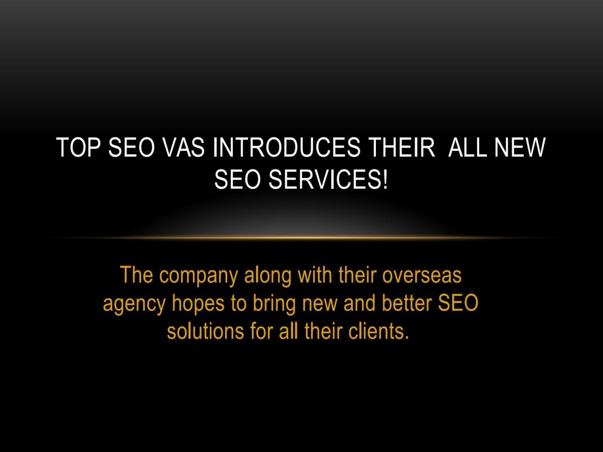 Top SEO Virtual Assistants Introduces Their All New SEO Services!