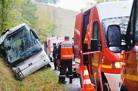 Accident de bus scolaire dans le Gers : frayeur pour 41 élèves