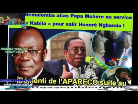 "Regardez ""Urgent: PAPA MOLIERE MENTEUR ASAMBWE NA POTO REPLIQUE YA RASSEMBLEMENT CONTRE APARECO HONORE NGBANDA"" sur YouTube"