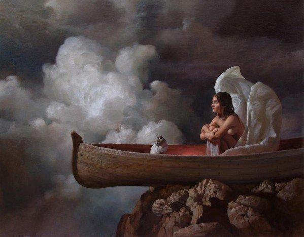 'Agua' by Ricardo Fernández Ortega oil painting, 2012