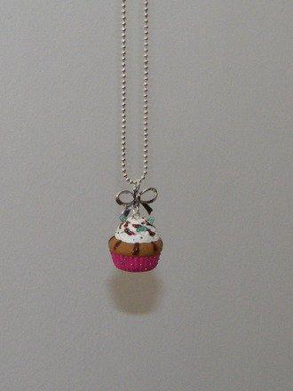 Collier cupcake en fimo : Collier par jl-bijoux-creation