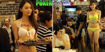 Berita Poker One - Kisah Unik Restoran Bubur Dengan Pelayan Seksi Berbikini ~ Berita Poker One