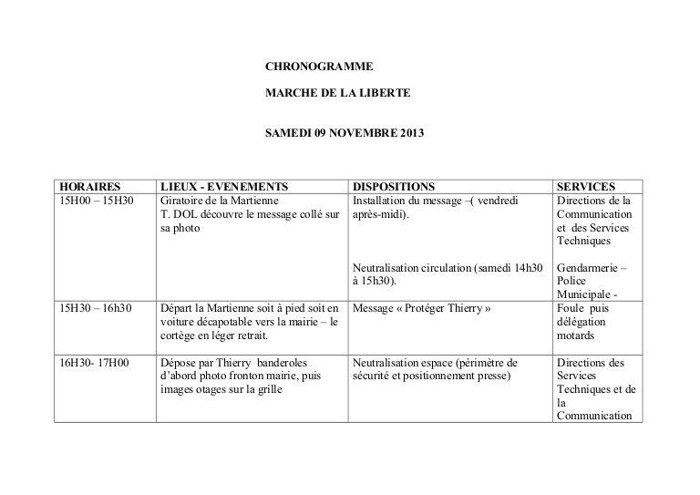 Chronogramme 09-11-13