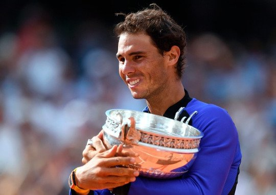 STAR PEOPLE CROWN: FRENCH OPEN MEN'S FINAL 2017: RAFAEL NADAL WINS ITS 10TH RECORD