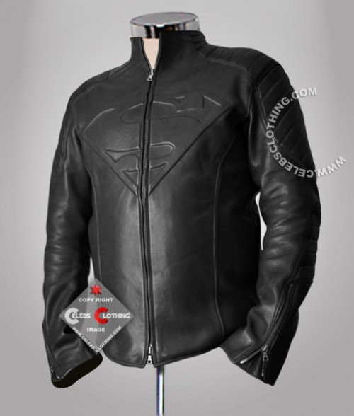 Black Superman Smallville Real Leather Jacket