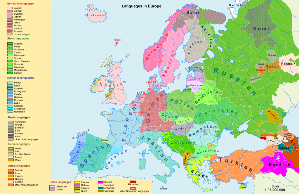 Linguistic maps of Europe | Languages of Europe