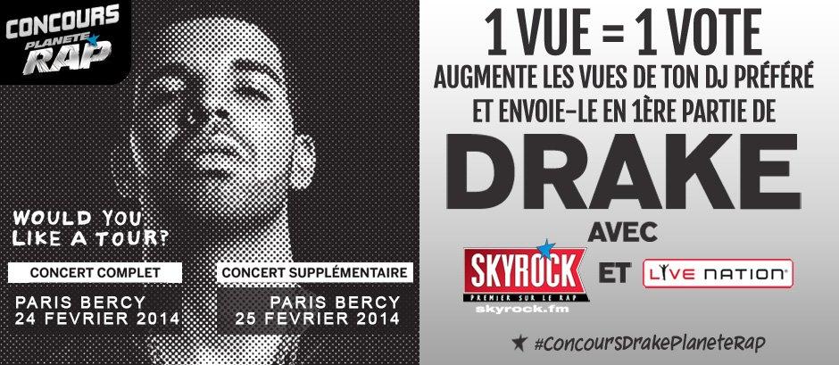 CONCOURS DRAKE PLANÈTE RAP DJ SET