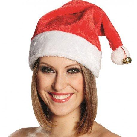 Bonnet de Noël adulte avec grelot : Bonnet Père Noël Mère Noël Santa