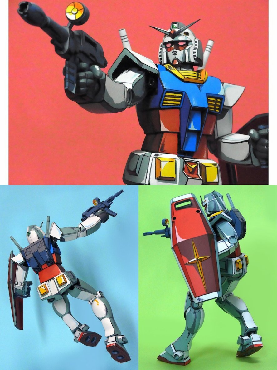 This Is Not A Painting! It's An Actual Gundam Figure!