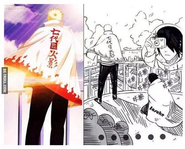 Trop la classe Naruto, Sasuke est fan ! | Be-troll