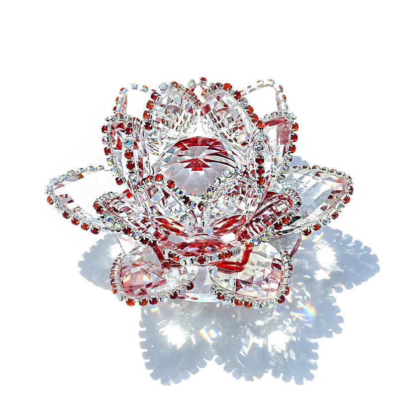 Fleur de lotus Décoration 3D Feng Shui (cristal) 90mm
