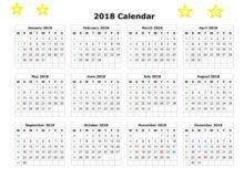 2018 Calendar Printable, Planner, Template, Excel, Word, Pdf