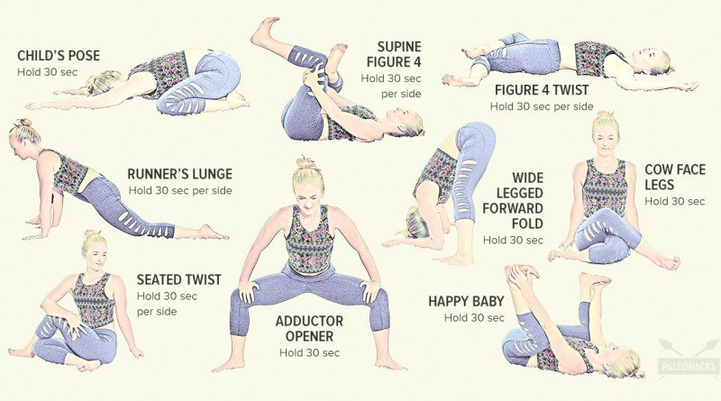 9 Easy Stretches to Release Lower Back and Hip Pain - Healthy Food Society