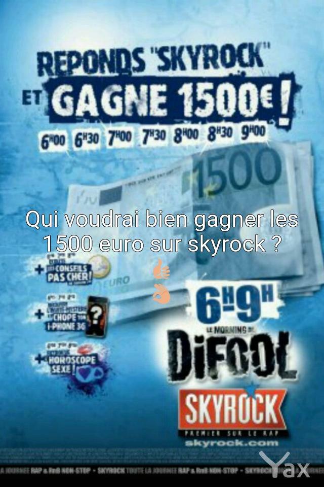 """C'est ma radio préférée """"Skyrock"""" #skyrockfm Skyrock.fm"""