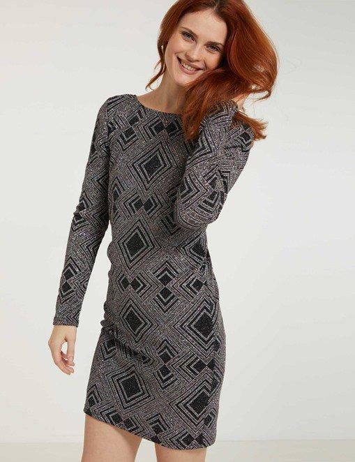 Robe avec motif graphique Morgan - Robe de Soirée Morgan - Bon-Shopping.com