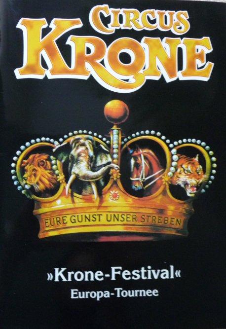 Programme Circus KRONE 2004 - Tournée Europe