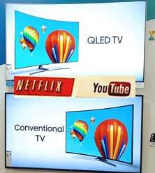 Compare 4K QLED SUHD vs OLED Televisions 2160p Quadcore TVs