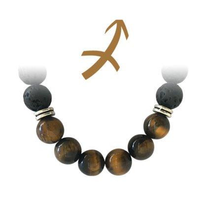 Bijou Pierre de Lave (12 pierres miénrales au choix) - Magie des Bijoux