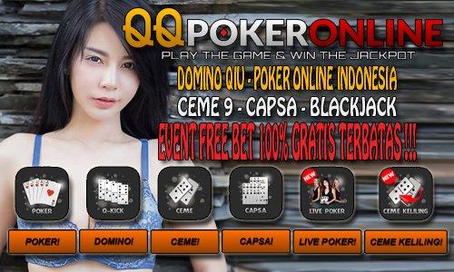 Poker Online Bonus Freechip Freebet 100% Gratis Tanpa Modal