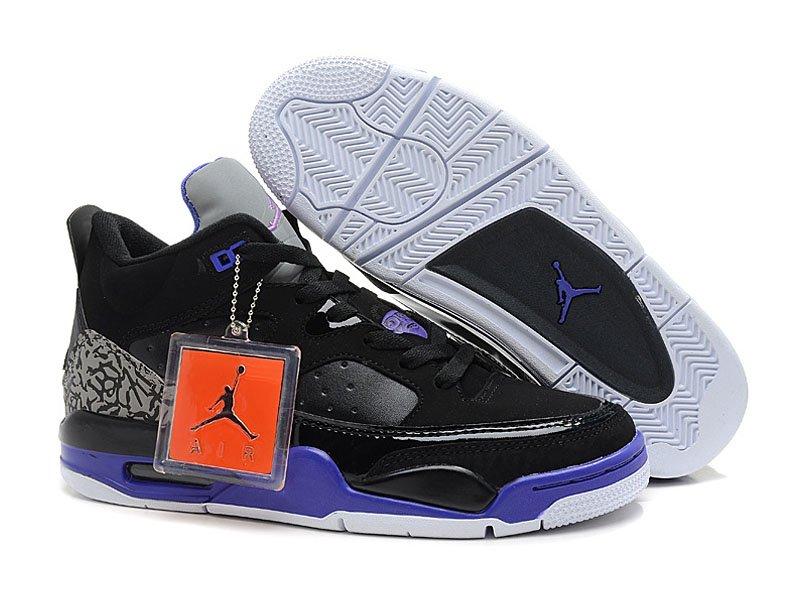 Jordan Son Of Mars Low - NIke Jordan Basket_Ball Chaussures Pour Homme Nior/Gris/pourpre 580603-008-Officiel Jordan SIte,Boutique Air Jordan 2013,Livraison Gratuite!