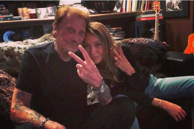 Johnny Hallyday et Laura Smet : père et fille complices