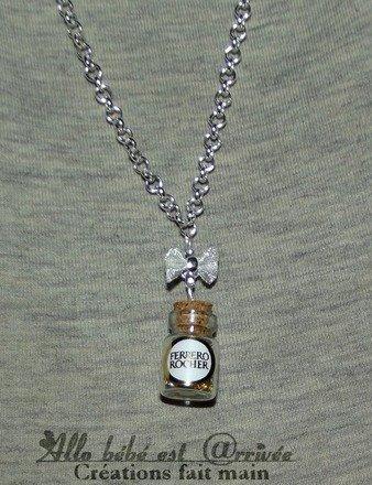 Collier mi-long fiole Ferrero Rocher 60 cm : Collier par allo-bebe-est-arrivee