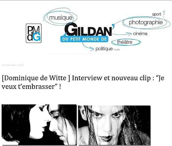 """""""Je veux t'embrasser"""" + INTERVIEW - Du petit monde de Gildan"""