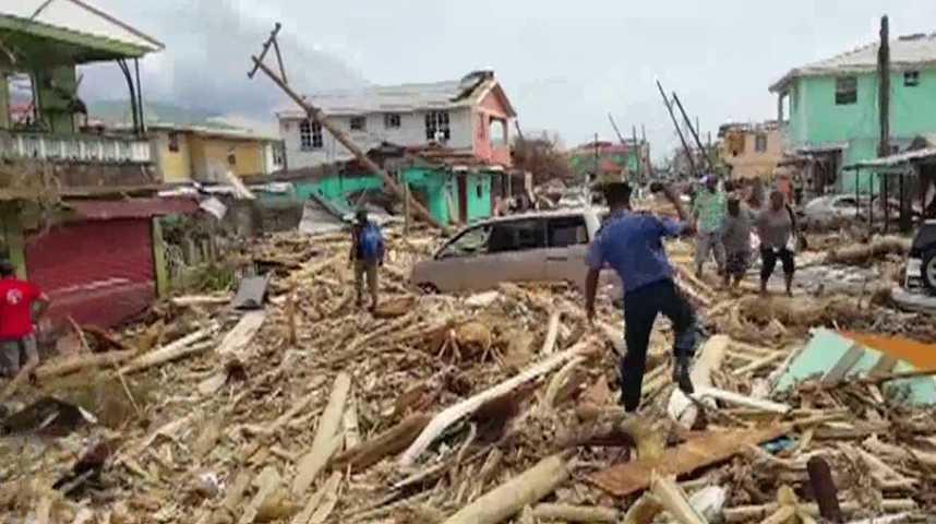 Vidéo : Les dégâts impressionnants de l'ouragan Maria à la Dominique - L'Obs