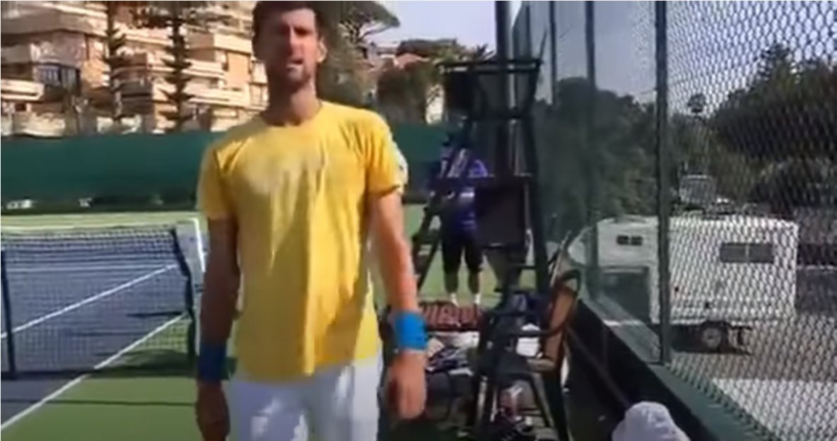Novak Djokovic Wife Reproving Him