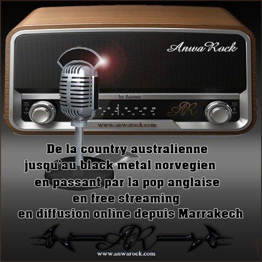 Un nouveau flyer de la radio rock et metal du Maroc. - ANWAROCK LA RADIO ROCK ET METAL DU MAROC.