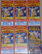 Lot 6 flyers Cirque PINDER 2006 - Circus, leaflets