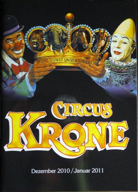 A vendre / On sale / Zu verkaufen / En venta / для продажи : Programme Circus KRONE Décembre 2010 / Janvier 2011