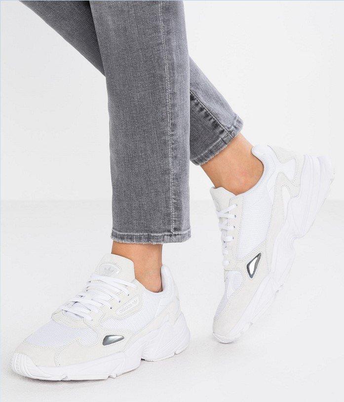 Adidas Originals FALCON Baskets basses footwear white/crystal white - Baskets Femme Zalando - Iziva.com