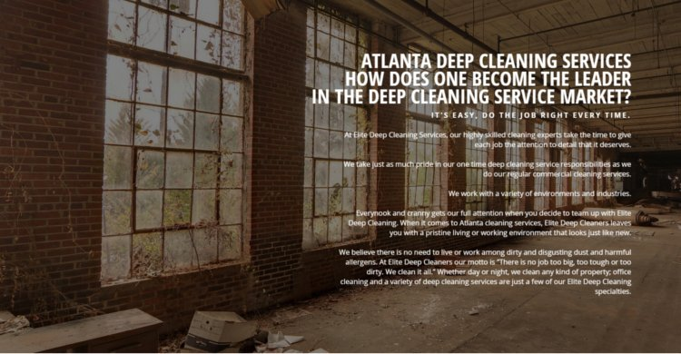Atlanta Deep Cleaning Service Company | One-Time Deep Cleaning Service