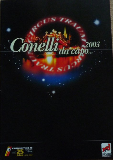 A vendre / On sale / Zu verkaufen / En venta / для продажи :  Programme Circus-Traum CONELLI 2003