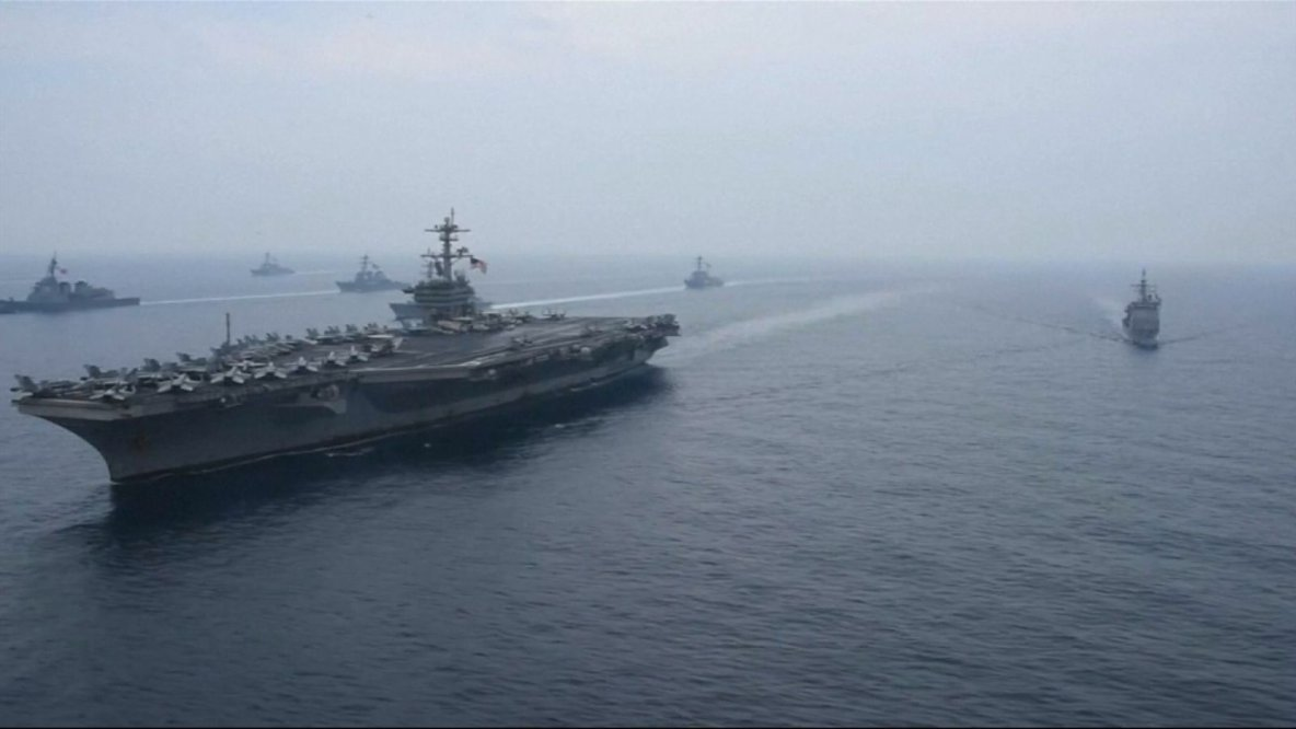 N Korea manoeuvres for US ship which buried Bin Laden