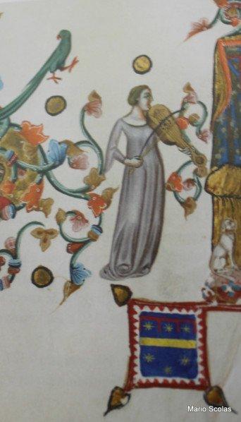 Les musiciens des enluminures de la Bible d'Anjou