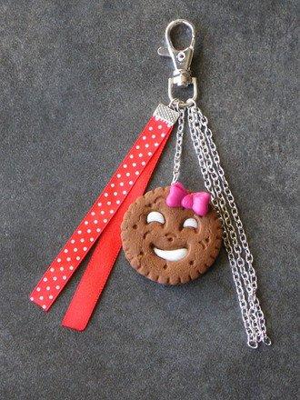 Bijoux de sac biscuit rigolo en fimo : Autres bijoux par jl-bijoux-creation