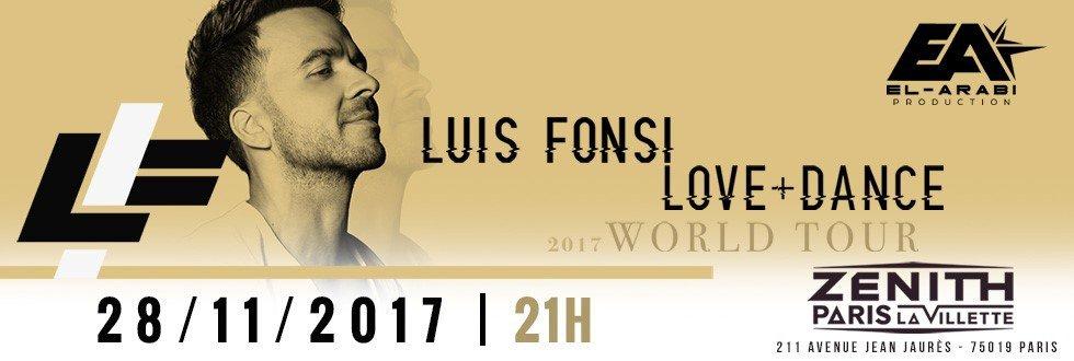 Luis Fonsi sera en concert au Zénith de Paris le mardi 28 novembre 2017