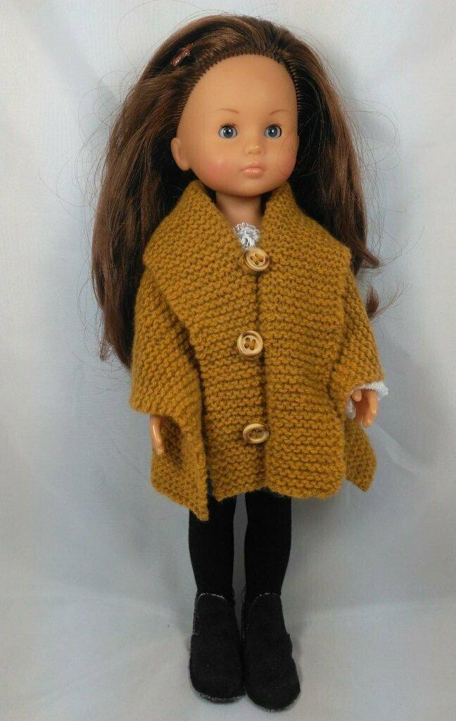 GRATUIT: Tuto Châle à tricoter poupée de 33 cm