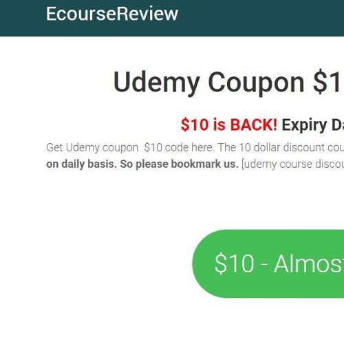 Udemy coupon $10
