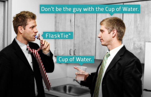 Flask Tie: A Tie That Lets You Drink at Work