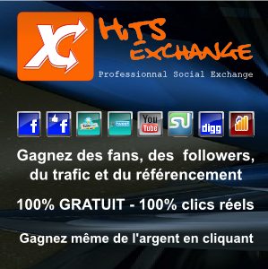 hits-exchange.me - Facebook Fans, Twitter Followers, Youtube Views, Google +1's, Stumbleupon Followers, Digg Followers, Website Hits, Twitter ReTweets, et bien plus!