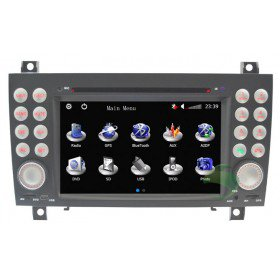 Auto DVD Player GPS Navigationssystem für Mercedes-Benz SLK(2004 2005 2006 2007 2008 2009 2010 2011 2012)(SLK200 SLK280 SLK350 SLK55)