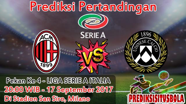 Prediksi Milan VS Udinese 17 September 2017